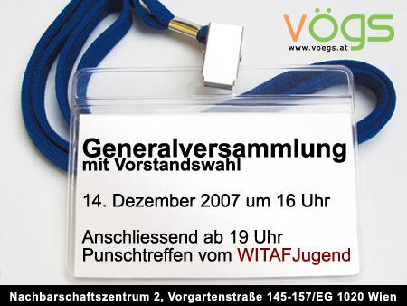 Flyer Generalversammlung